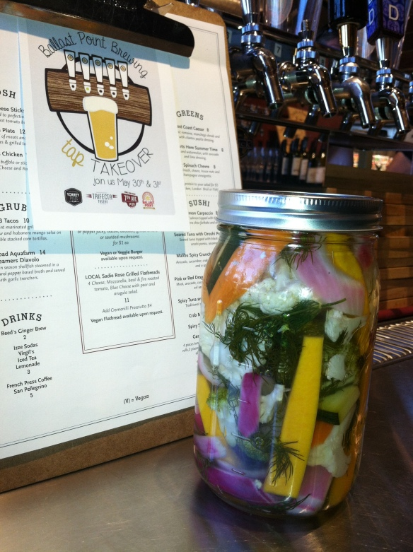 Pickled vegetables in Del Mar, California